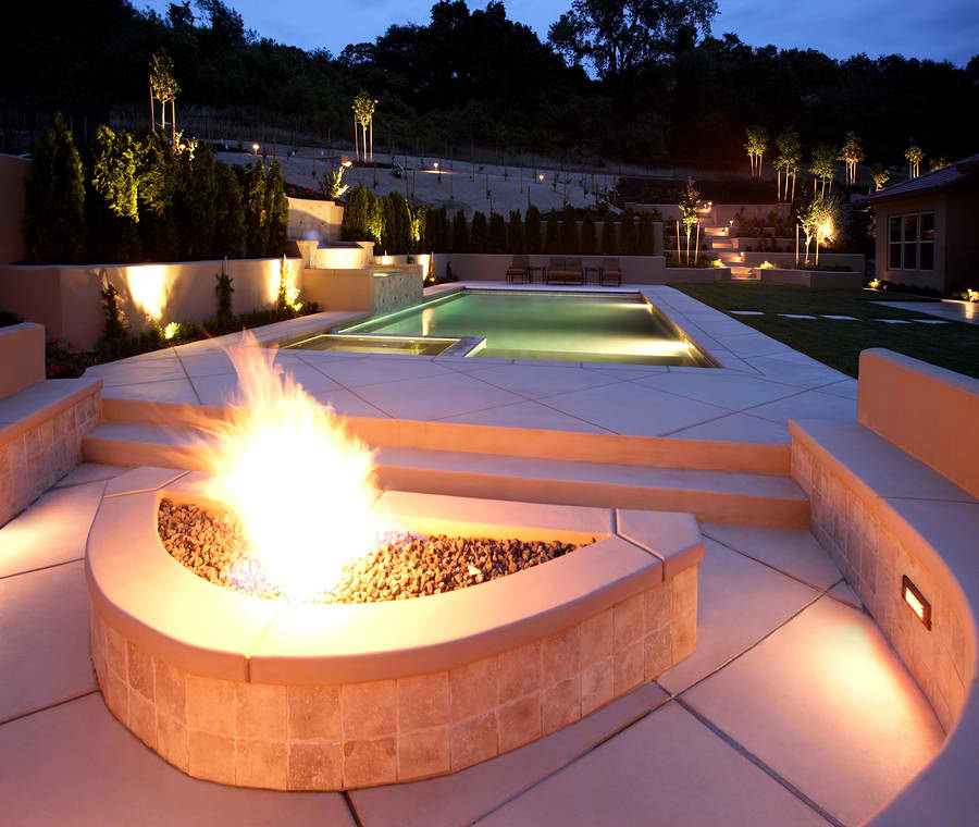 Add A Fire Feature To Your Pool